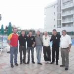 l'equipe au complet avec Nicolas DERVAUX